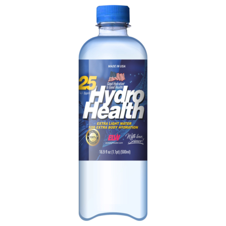 Deuterium Depleted Water is  25 Hydrohealth for Health and Body Hydration