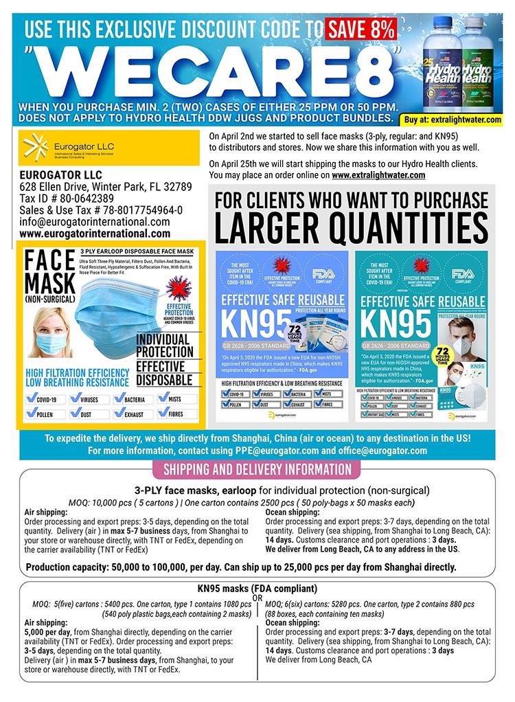 Standard Face Masks, KN95 Masks, Sanitary Gloves - Now On Sale 2