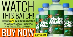 Jump To This Opportunity: Get The 50ppm HydroHealth With As Low As 20% Lower Deuterium Content!